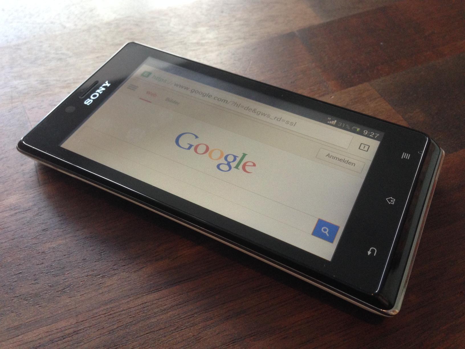 Google på smartphone
