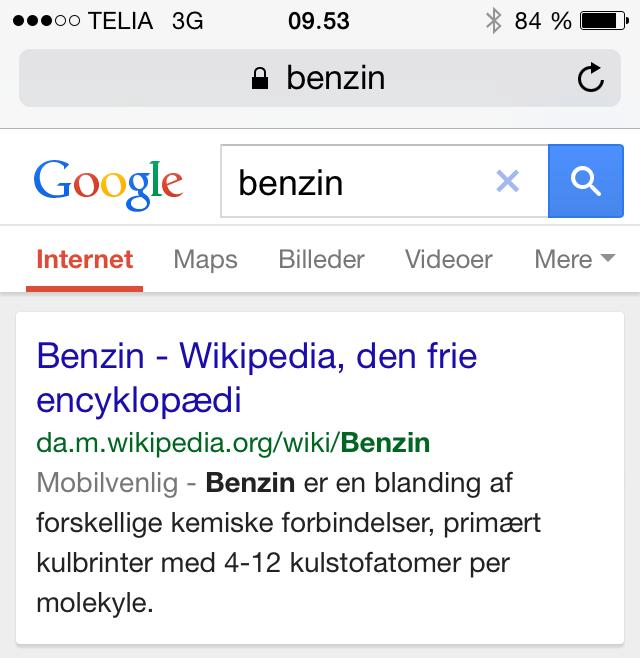 Mobilvenlig i Google søgeresultaterne