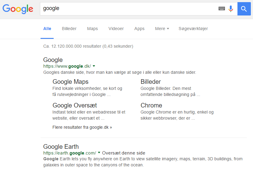 Google Tester Sort Font i SERP's